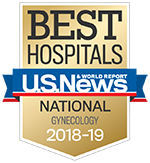 Best Hospitals - US New & World Report Gynecology 2017-2018 - Gynecology Specialty badge