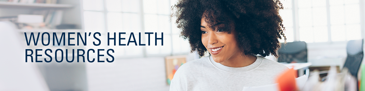 Women's Health Resources banner