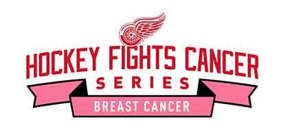 Red Wings Hockey Fights Cancer Series - Breastcancer